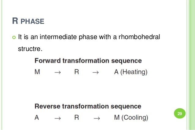 R PHASE  It is an intermediate phase with a rhombohedral structre. 29