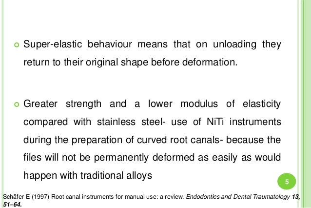  Super-elastic behaviour means that on unloading they return to their original shape before deformation.  Greater streng...