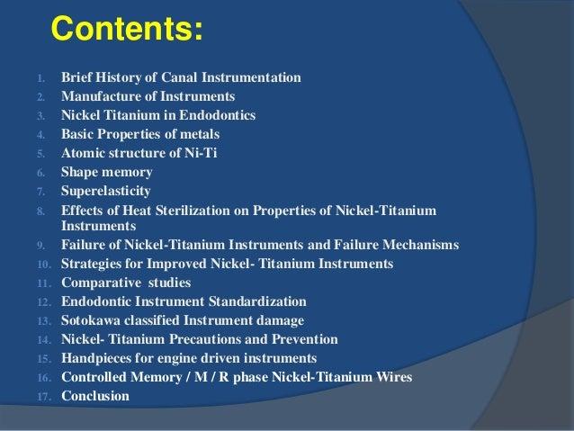 Nickel Titanium in Endodontics