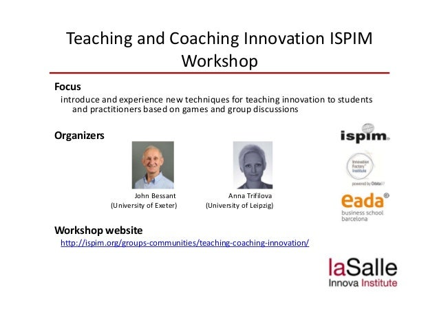 Innova Leipzig teaching and coaching innovation nitim research seminar barcelona