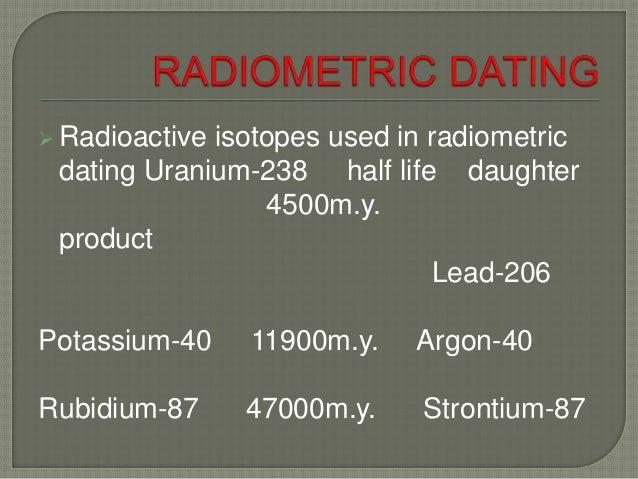 Dating using uranium-238 isotopes