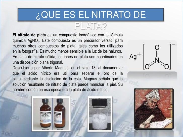 Nitrato de plata  Slide 3