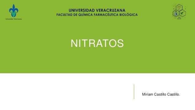 NITRATOSMiriam Castillo Castillo.