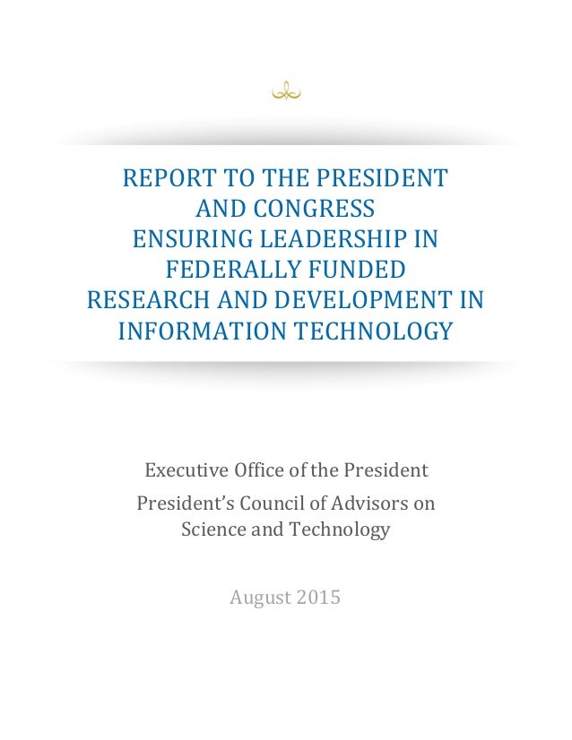 Report to the President and Congress Ensuring Leadership ...
