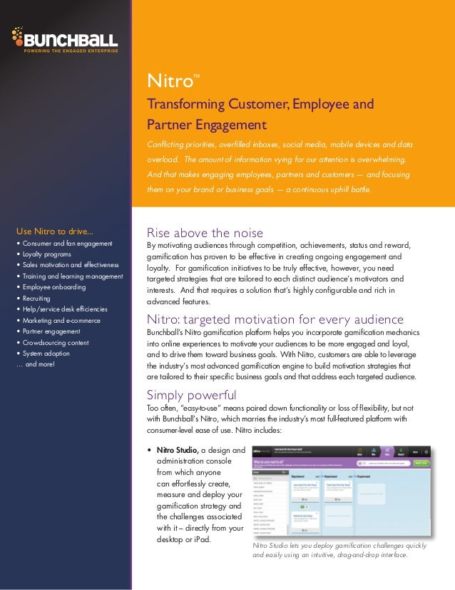 Nitro         ™                                       Transforming Customer, Employee and                                 ...