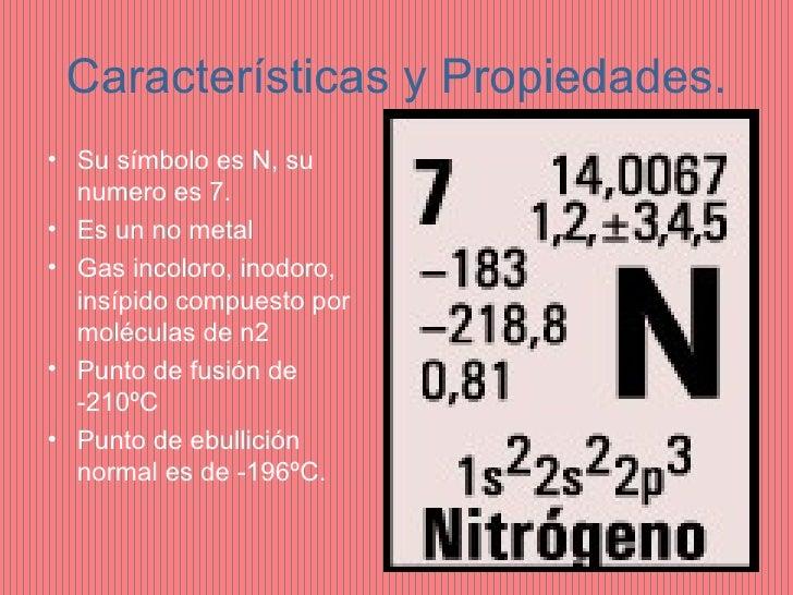 Nitrogeno for Marmol caracteristicas y usos