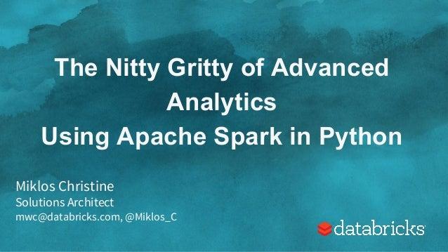 advanced analytics with spark pdf