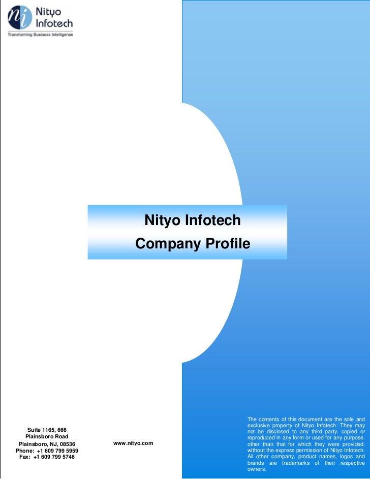 Company Profile                                     Nityo Infotech                                  Company Profile       ...
