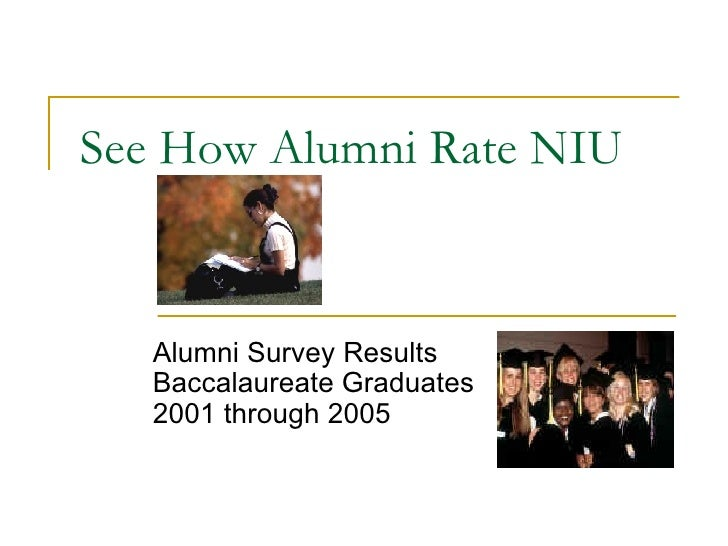 See How Alumni Rate NIU Alumni Survey Results Baccalaureate Graduates  2001 through 2005