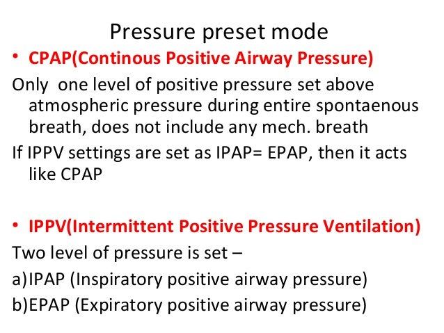 Ippv Mode Of Mechanical Ventilation Non Invasive