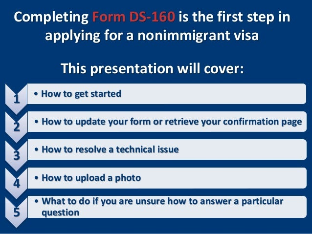 U.S. Nonimmigrant Visas: Completing Form DS-160 on print ds-160 application form, ds-160 paper form, ds-160 us application form, vfs ds-160 application form,