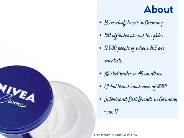 nivea imc Nivea creme provides the skin with all it needs to stay pure, nourished nivea men creme cares for your skin by giving it a boost of hydration.