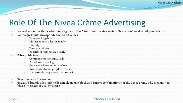 nivea case study answers Nivea's journey from being a one-product brand to a range encompassing  it  studies beiersdorf's strong focus on innovation-led product development and.