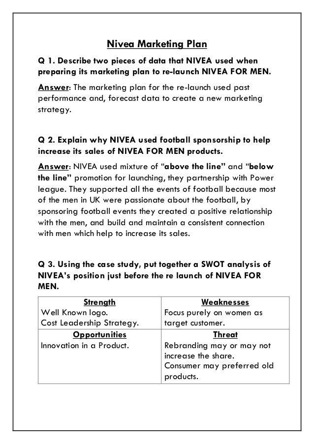 nivea business marketing case study essay Content marketing case study: nivea user generated 'captivating tales' beat  sales targets by 11% - digital marketing case study from the digital training  academy - in a  in-company training executive coaching marketing courses  current participants graduate services about us case study library  the  solution.