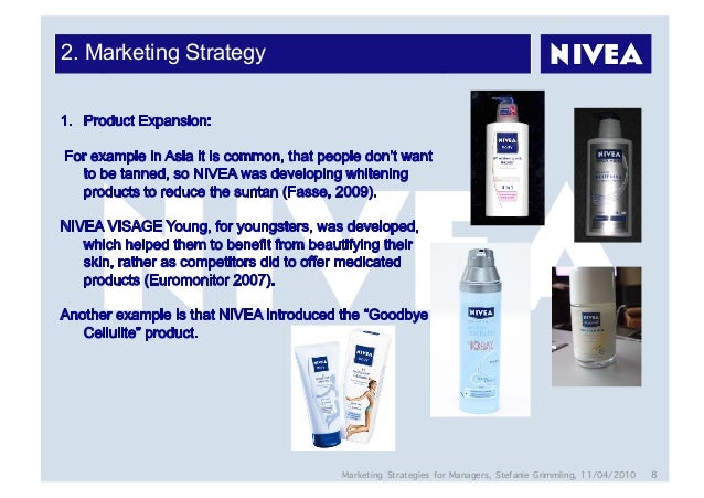 4 ps of nivea The marketing mix is most commonly executed through the 4 p's of marketing: pr   6) key challenges, and 7) marketing mix example – nivea.