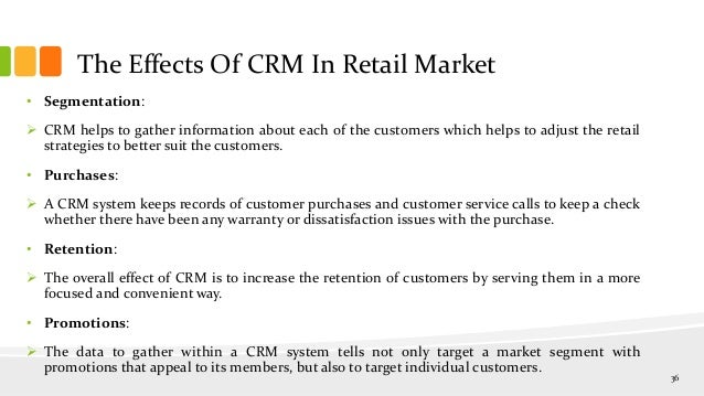 Dissertation on crm in retail