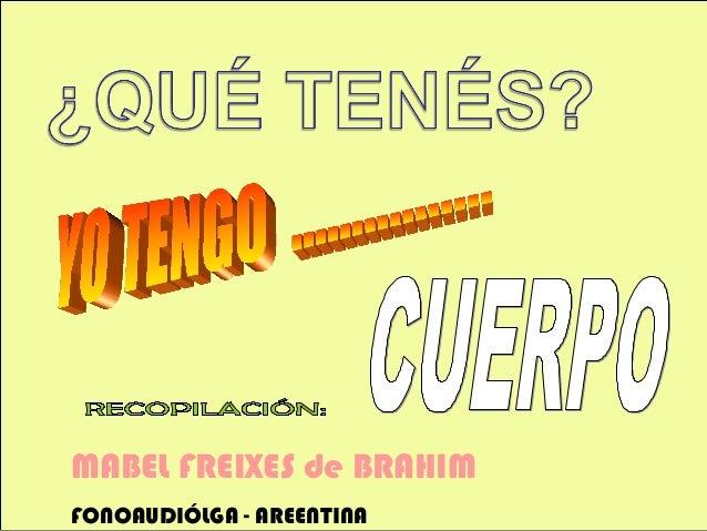 MABEL FREIXES de BRAHIM FONOAUDIÓLGA - AREENTINA