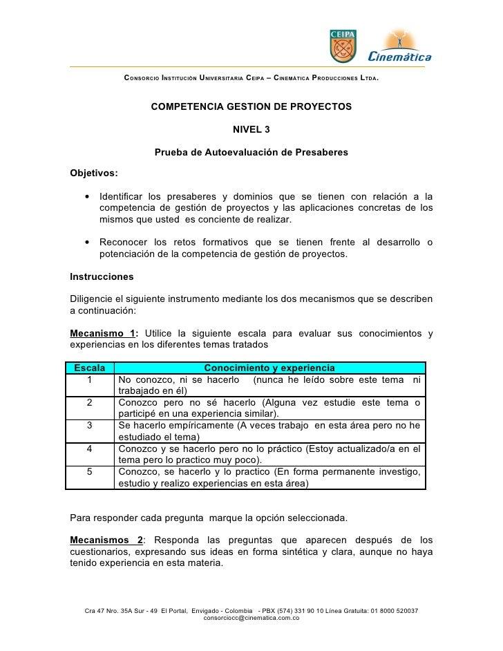 CONSORCIO INSTITUCIÓN UNIVERSITARIA CEIPA – CINEMÁTICA PRODUCCIONES LTDA.                        COMPETENCIA GESTION DE PR...