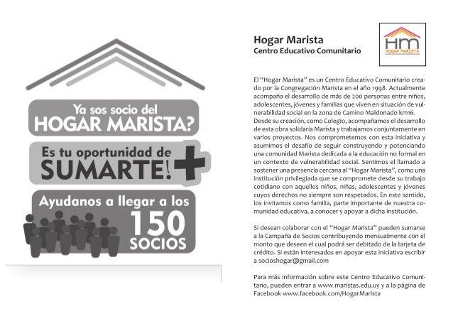 Inicial 5 años, 2015. Material informativo - Colegio Santa María, Maristas. Montevideo, Uruguay.