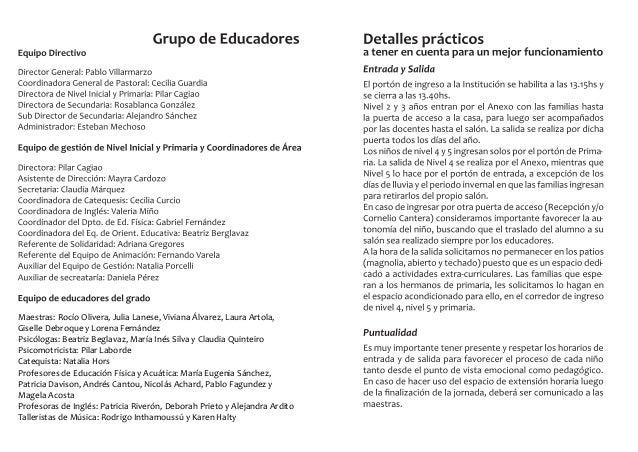 Nos proponemos a lo largo del año los siguientes objetivos: Aspectos pedagógicos para Nivel 5 años: Nivel 5 años abordará ...