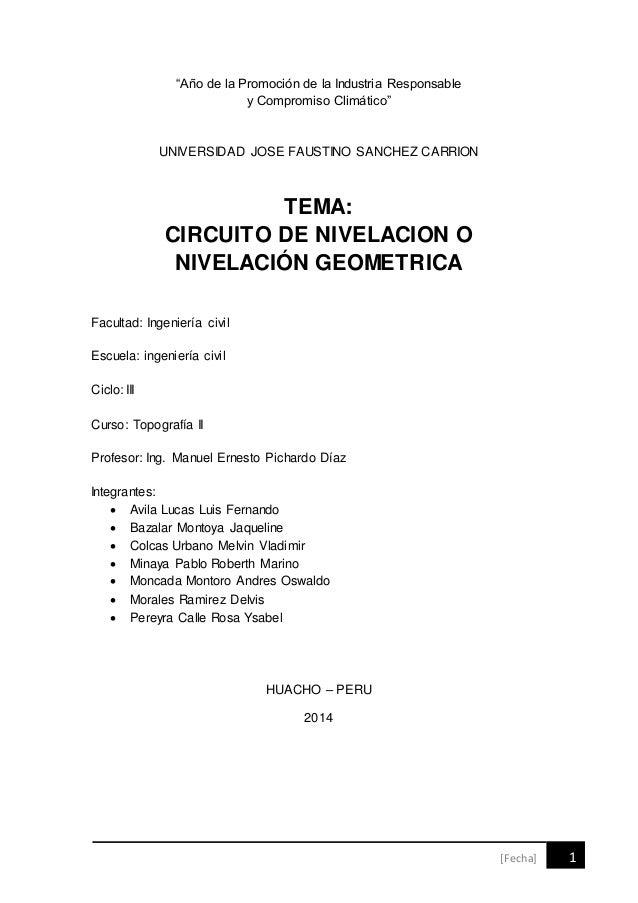 """[Fecha] 1  """"Año de la Promoción de la Industria Responsable  y Compromiso Climático""""  UNIVERSIDAD JOSE FAUSTINO SANCHEZ CA..."""