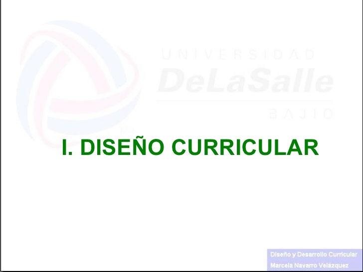 I.  DISEÑO CURRICULAR