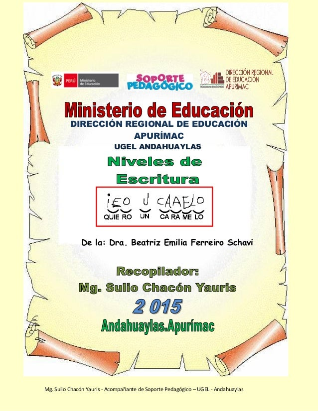 Mg. Sulio Chacón Yauris - Acompñante de Soporte Pedagógico – UGEL - Andahuaylas Mg. Sulio Chacón Yauris - Acompañante de S...