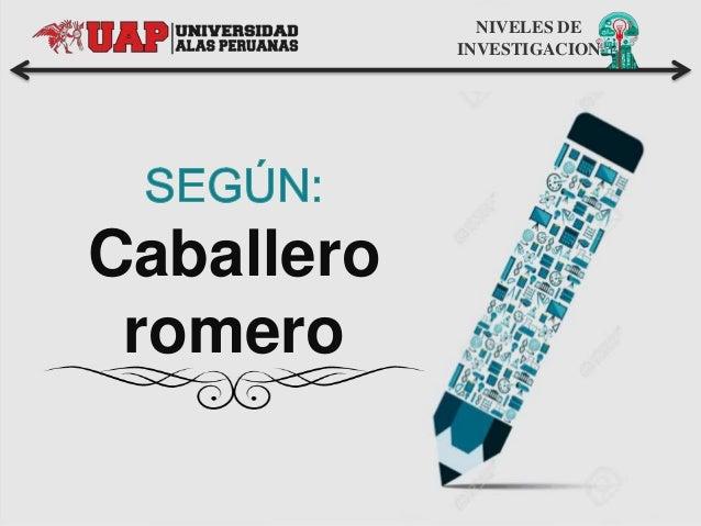 Caballero romero NIVELES DE INVESTIGACION