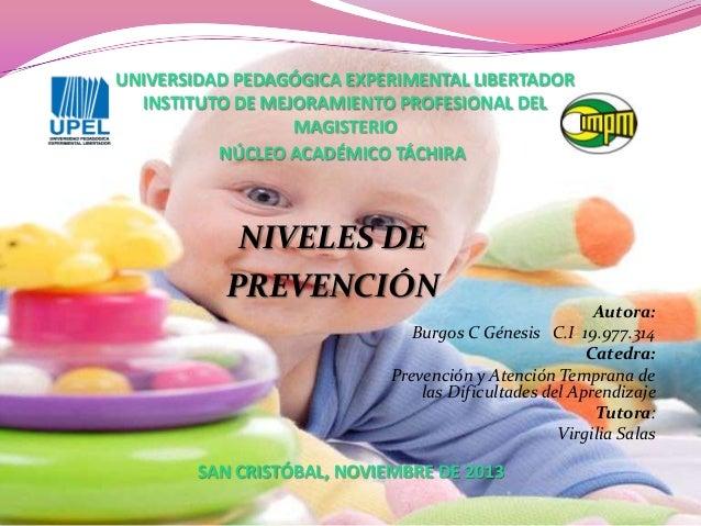 UNIVERSIDAD PEDAGÓGICA EXPERIMENTAL LIBERTADOR INSTITUTO DE MEJORAMIENTO PROFESIONAL DEL MAGISTERIO NÚCLEO ACADÉMICO TÁCHI...