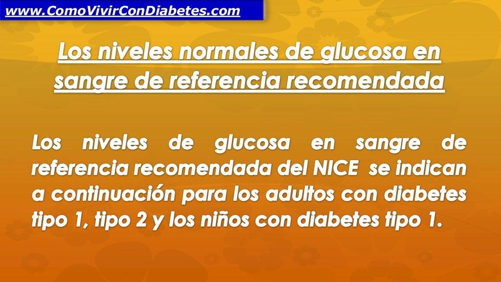 Niveles Normales de Glucosa en Sangre
