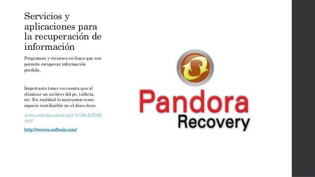 Servicios y  aplicaciones para  la recuperación de  información  Programas y recursos en linea que nos  permite recuperar ...