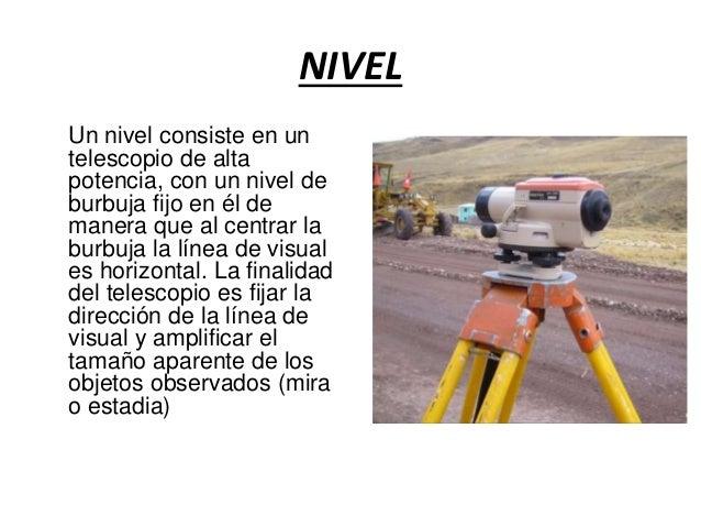 Nivel topografico for Nivel de precision