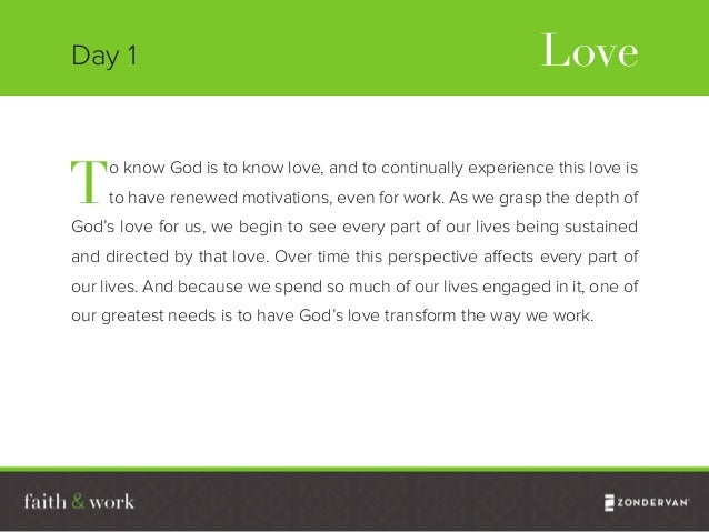 When we begin to experience God and his love, our whole being—heart, mind, soul and strength—is engaged, and this experien...