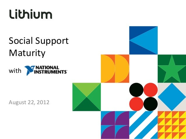 Social SupportMaturitywithAugust 22, 2012