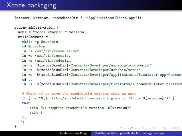 Building mobile apps with the Nix package manager