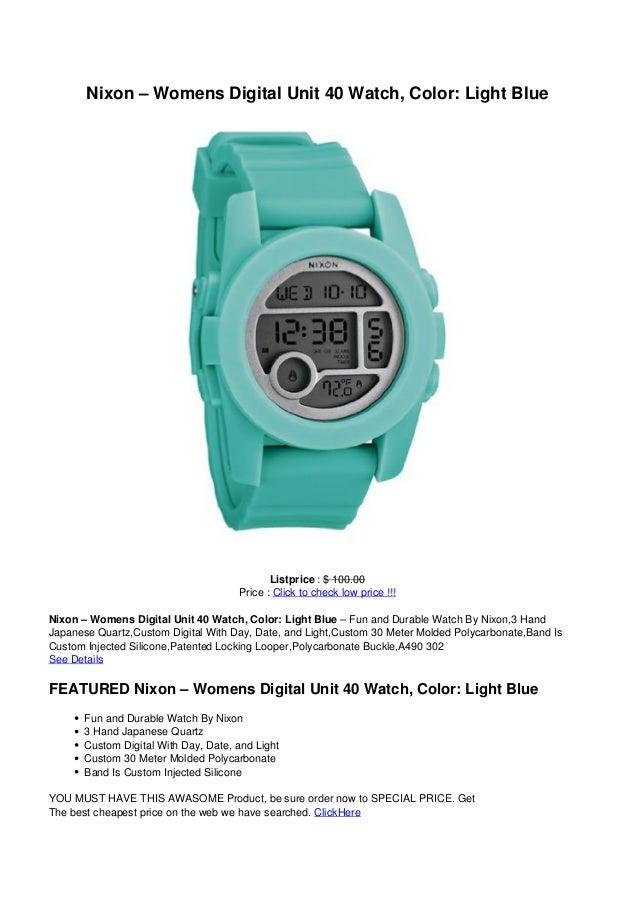 Nixon – Womens Digital Unit 40 Watch, Color: Light BlueListprice : $ 100.00Price : Click to check low price !!!Nixon – Wom...