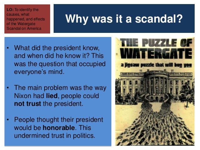 the watergate crisis What's clear from the polls from the summer of 1974 is that americans took the momentous developments seriously, worried deeply about watergate's effects on the country while at the same time appreciating the resilience of our democratic system.
