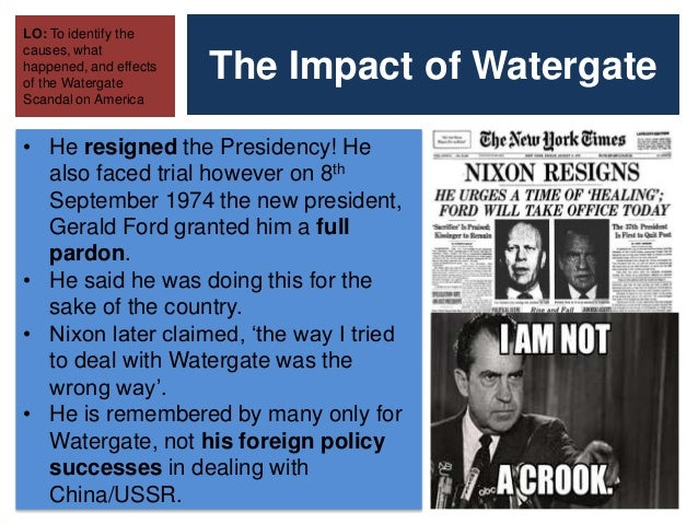 Cause and effect essay what was the watergate scandal