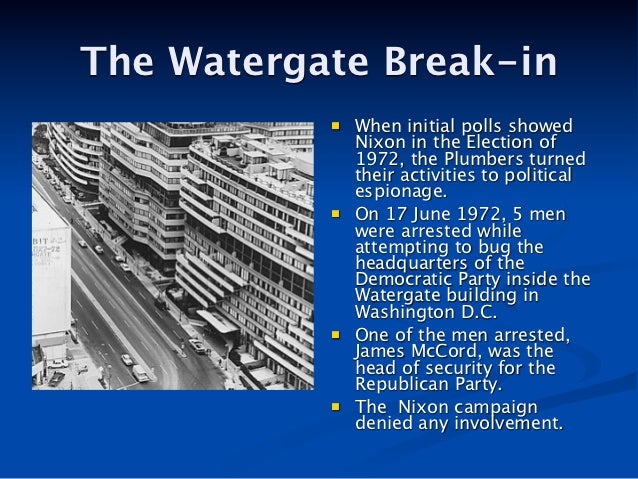 Image result for the watergate scandal began with a break-in at the