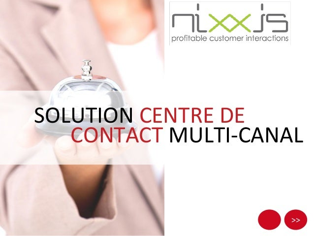 >> SOLUTION CENTRE DE CONTACT MULTI-CANAL