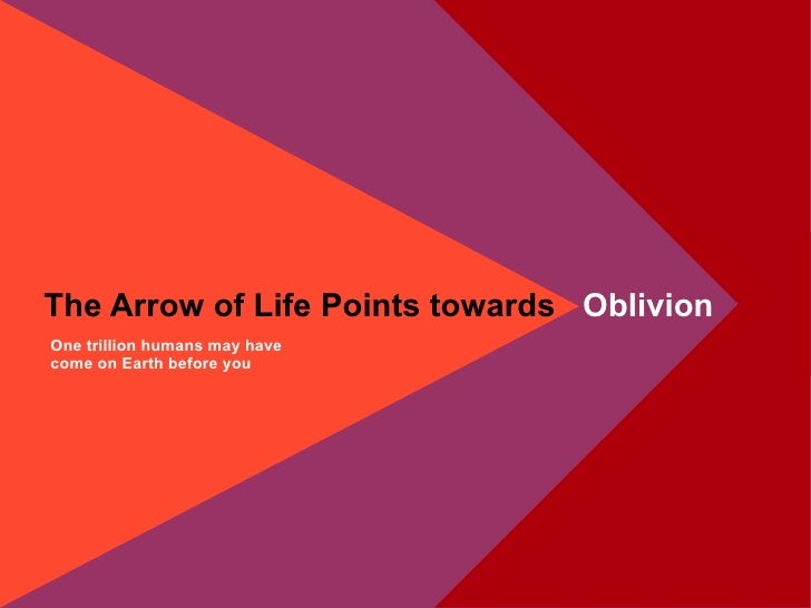 One trillion humans may have come on Earth before you The Arrow of Life Points towards  Oblivion