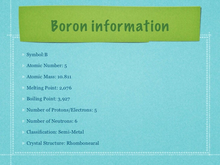 B Boron