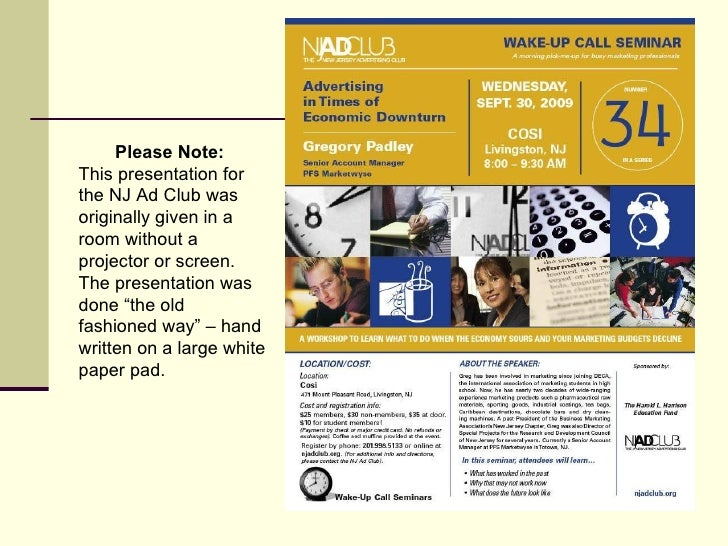 Please Note:   This presentation for the NJ Ad Club was originally given in a room without a projector or screen. The pres...