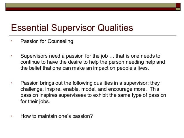 21 essential supervisor qualities