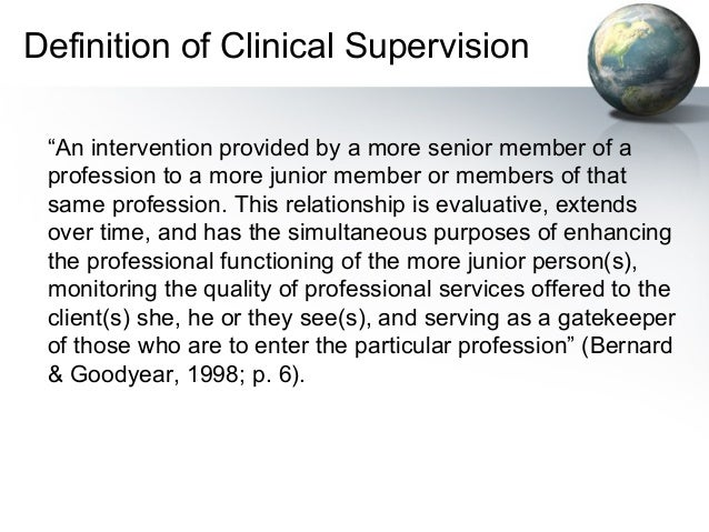 importance of clinical supervision The term 'clinical supervision' in the past for radiography has been used to  describe the relationship with students or sub-ordinates it is important, therefore,  that.