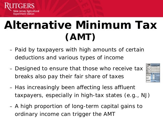 alternative minimum taxable income essay So congress instituted the amt with the aim of making the tax system fairer but  because the amt was never indexed to inflation—as the regular income tax.