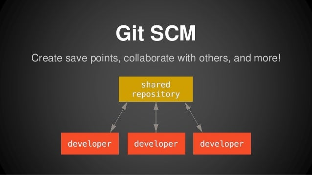 Create save points, collaborate with others, and more! Git SCM