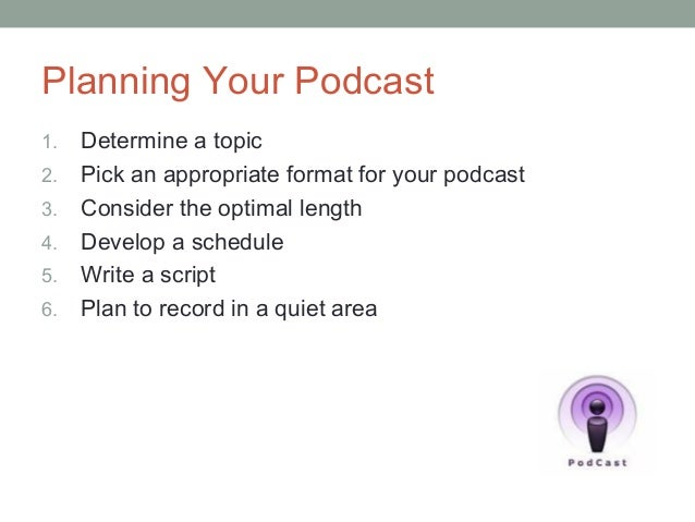 podcast template script - njea podcasting presentation