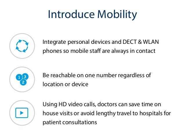 unified communications for healthcare 3 unified communications for healthcare organizations already assisting many hospitals in this area first, we see the use of mobile devices, computers on wheels, and nursing station computers to.