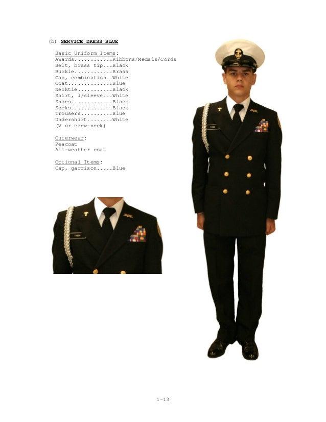 Navy service dress blues ribbon placement